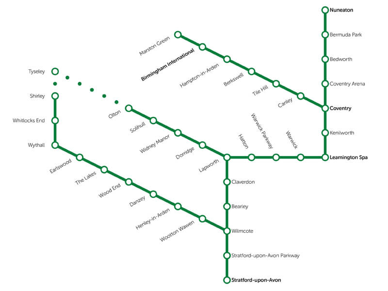 Stations rail map